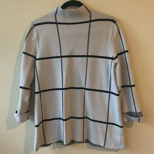 Elie Tahari checkered sweater!